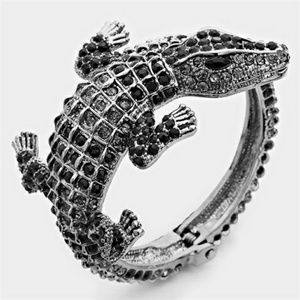 Vintage Alligator Wrap Bracelet